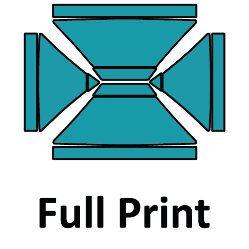 Altegra custom printed 3x4.5m gazebo - printed canopy panel icons - Full 3x4.5m Custom Print