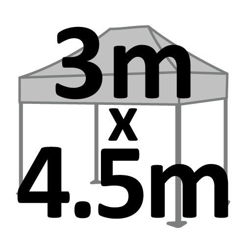 Altegra 3x4.5m gazebo and marquee size selection icon