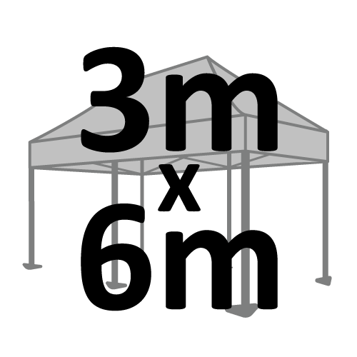 Altegra 3x6m marquee size selection icon