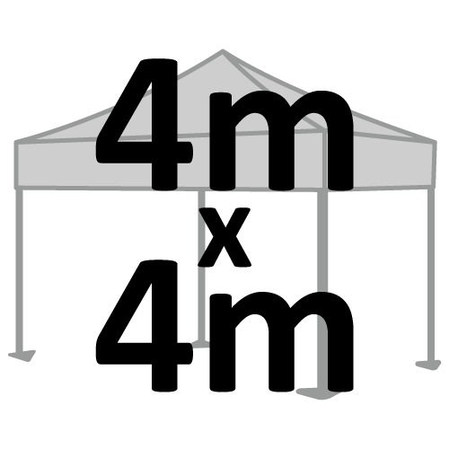 Altegra 4x4m marquee size selection icon