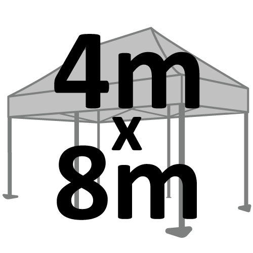 Altegra 4x8m marquee size selection icon